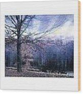 The Blue Trees Wood Print