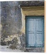 The Blue Window Wood Print