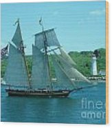American Tall Ship Sails Past Mcnabs Island Wood Print