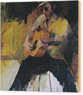 The Blues Man Wood Print