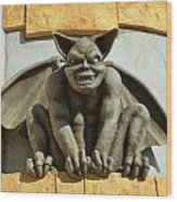 The Boardwalk Of Santa Cruz Gargoyles Wood Print