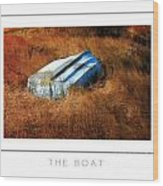 The Boat Poster Wood Print