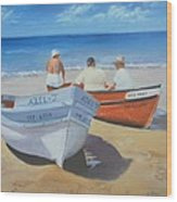 The Boaters Wood Print