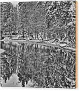 The Boathouse In Old Forge Wood Print