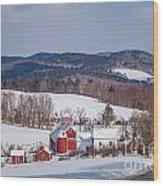 The Bogie Mountain Farm Wood Print