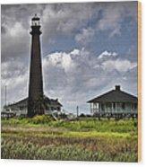 The Bolivar Lighthouse Wood Print