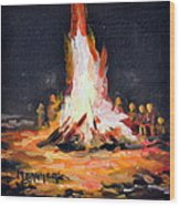 The Bonfire Wood Print