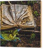 The Book Wood Print