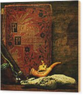 The Bookshelf Wood Print