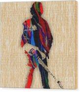The Boss Bruce Springsteen Wood Print