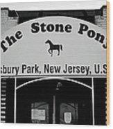 The Boss Stone Pony Asbury Park Wood Print
