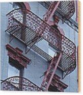 The Bowery Blues Wood Print