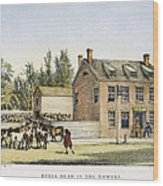 The Bowery, New York, 1783 Wood Print
