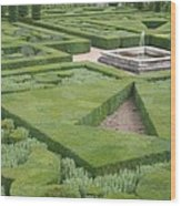 The Boxwood Garden At Chateau Villandry Wood Print