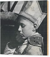 The  Boy Bishop Kisses The Ring Wood Print