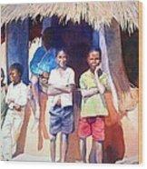 The Boys Of Malawi Wood Print