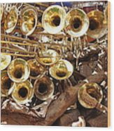 The Brass Section Wood Print
