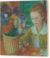 The Breakfast Porch Wood Print by William James Glackens