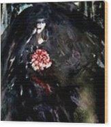 The Bride In Black Wood Print