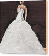 The Bride Wood Print