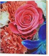 The Brides Flowers Wood Print