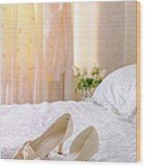 The Brides Sandals Wood Print