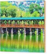The Bridge 16 Wood Print