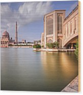 The Bridge And The Mosque Wood Print