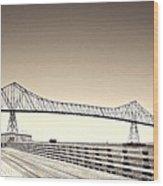 The Bridge At Astoria Wood Print