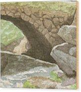 The Bridge at Gleason Falls Wood Print