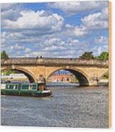 The Bridge At Henley-on-thames Wood Print
