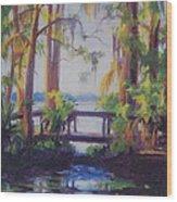 The Bridge At Kraft Azalea Wood Print