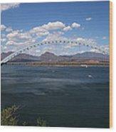 The Bridge At Roosevelt Lake Wood Print