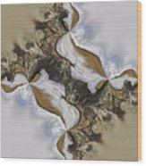 The Bridge Between The Deserts Wood Print