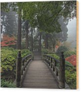 The Bridge In Japanese Garden Wood Print