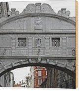 The Bridge Of Sighs Wood Print by Bishopston Fine Art