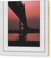 The Bridge Poster Wood Print