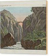 The Bridge To Ronda Wood Print