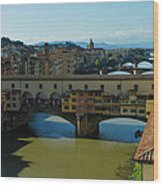 The Bridges Of Florence Italy Wood Print