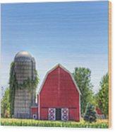 The Bright Farm Wood Print