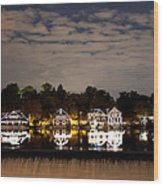 The Bright Lights Of Boathouse Row Wood Print
