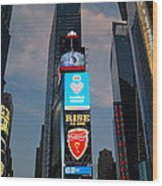 The Bright Lights Of Times Square Wood Print