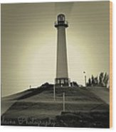 The Brightly Lit Lighthouse Wood Print