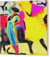 The Brilliance In Bullfighting Wood Print