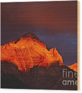 The Brilliance Of Light Mount Rundle Banff Wood Print