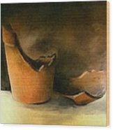 The Broken Terracotta Pot Wood Print