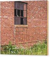 The Broken Window Wood Print
