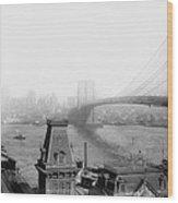 The Brooklyn Bridge 1902 Wood Print
