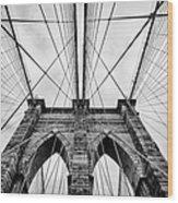 The Brooklyn Bridge Wood Print