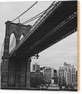 The Brooklyn Bridge New York City East River Wood Print